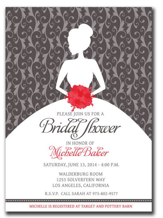 26 best Amazing Wedding Shower Template PSD images on Pinterest - free templates for bridal shower invitations