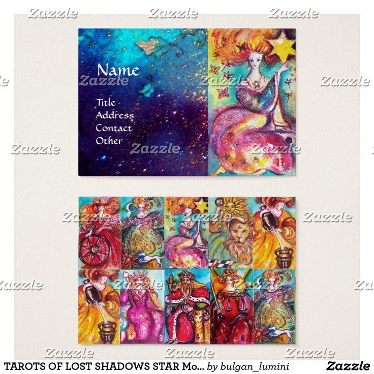 TAROTS OF LOST SHADOWS STAR Moon,Sun,Justice Business Card  #psychics #tarot #tarotreader #cartomante #fineart
