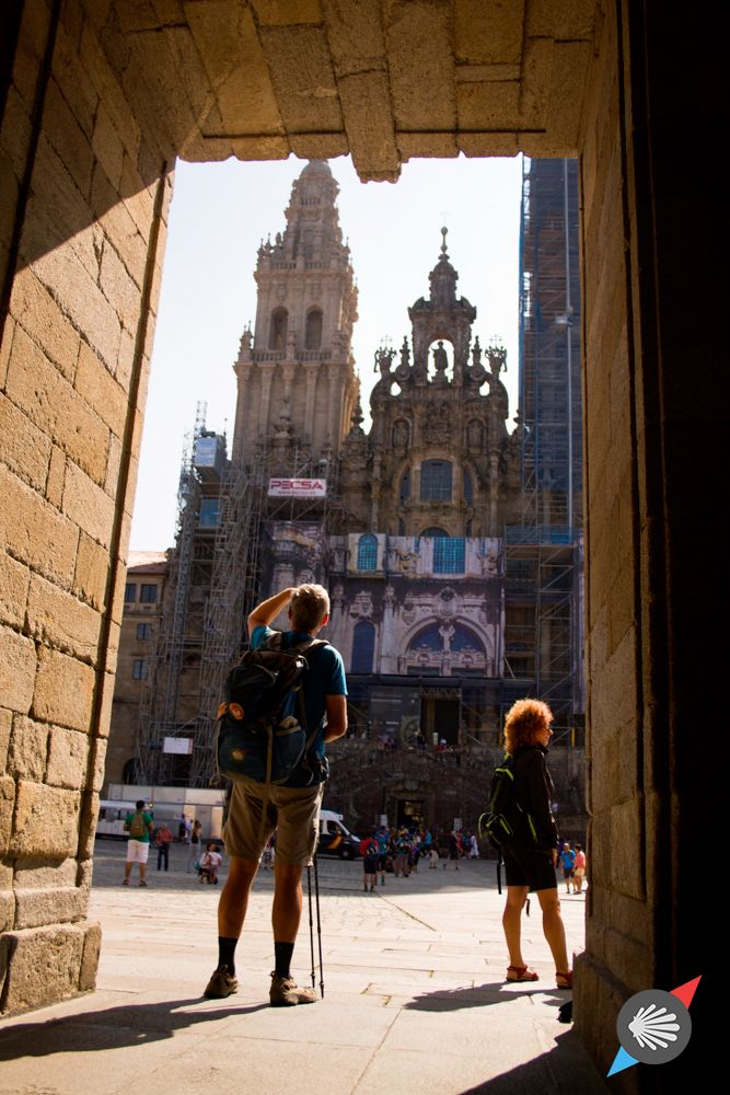 Looking at Santiago de Compostela Cathedral #CaminodeSantiago #SantiagodeCompostela #Spain photo made by Katarzyna Kędzierska