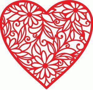 Silhouette Design Store - View Design #36643: valentine heart