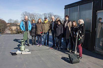 Medarbetare från Länsstyrelsens miljöenhet, Naturhistoriska Riksmuséet samt pollenfällan. Gävle - Gävleborg