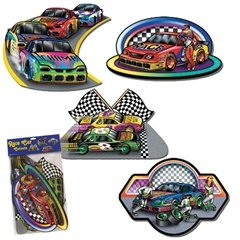 Race Car Cutouts from Windy City Novelties