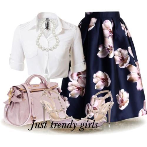 volume puffy vintage floral midi skirt, Volume puffy midi skirt outfits…