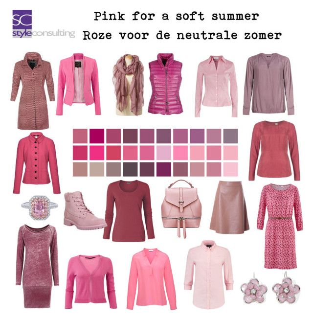 Pink for a soft summer. Roze voor de neutrale zomer. by roorda on Polyvore featuring mode, Hahn, L'Autre Chose, Timberland, Mixit and Basler