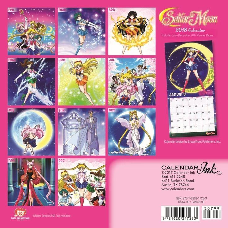 2018 Sailor Moon Mini Calendar https://www.amazon.com/2018-Sailor-Moon-Mini-Calendar/dp/1620217287/ref=as_li_ss_tl?ie=UTF8&qid=1505948500&sr=8-2&keywords=sailor+moon+calendar&linkCode=ll1&tag=mypintrest-20&linkId=d1b49d67676461373ab8d56433470fa3