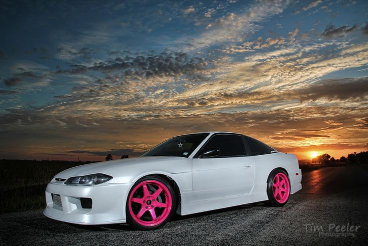 240sxwith pink wheels cars and bike yum pinterest