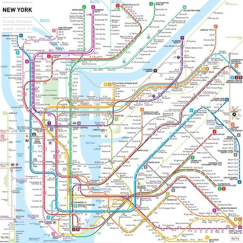 NYC SUBWAY MAP!!  This New NYC Subway Map May Be the Clearest One Yet
