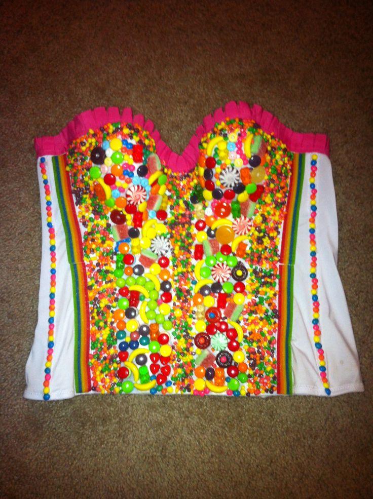 DIY Halloween Costume - Candy Corset