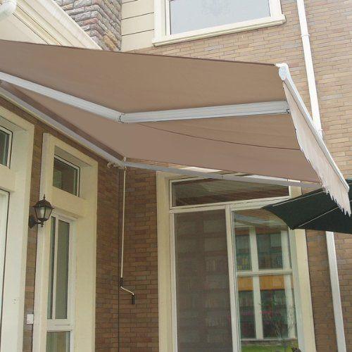 OUTT® 10u0027x 8u0027 Retractable Patio Awning Sun Shade Canopy Extra Heavy Duty