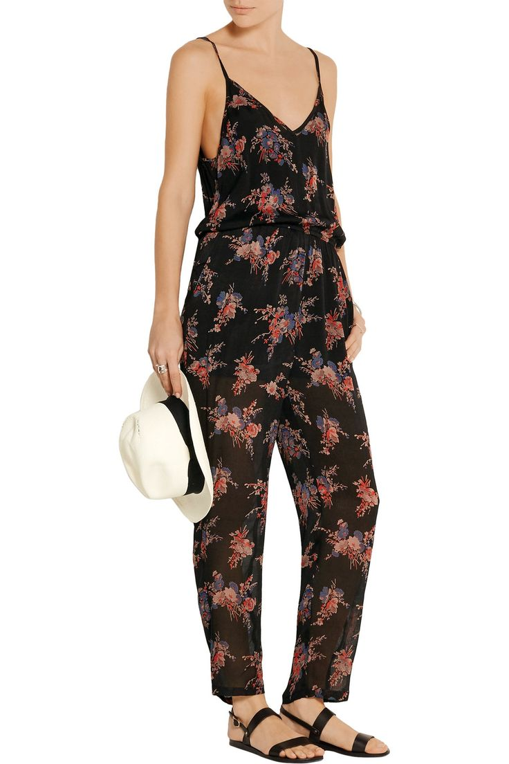 Shop on-sale Mes Demoiselles Flip printed silk-crepe jumpsuit. Browse other discount designer Jumpsuits & more on The Most Fashionable Fashion Outlet, THE OUTNET.COM