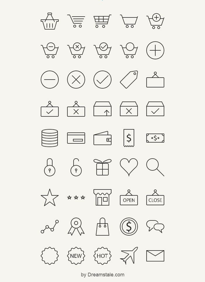 20+ Free E-Commerce Icon Sets to Download