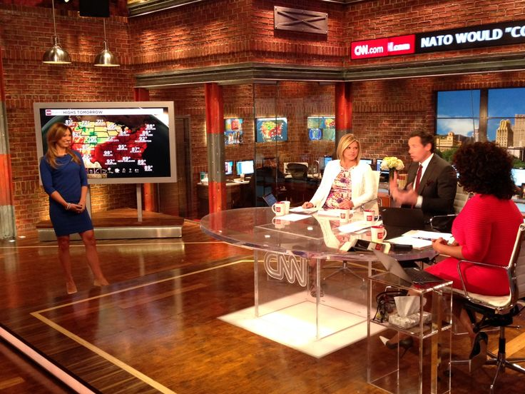 CNN New Day Studio Meteorologist Indra Petersons Kate Bolduan Chris Cuomo Michaela Pereira