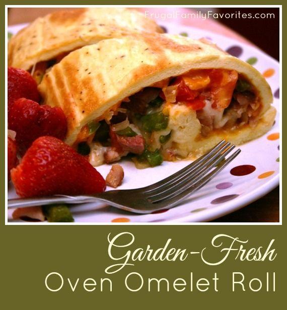 EEN Leuk Idee VOOR paasbrunch van EEN dag - Garden Fresh Oven Omelet Roll. Gemakkelijk OM de Ingrediënten te veranderen OM kieskeurige eters ...
