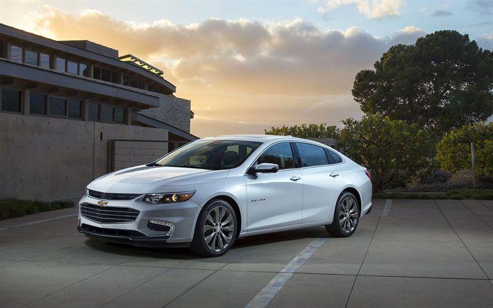 Descargar fondos de pantalla Chevrolet Malibu, 2018 coches, coches americanos, Chevrolet