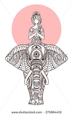 Meditation on elephant