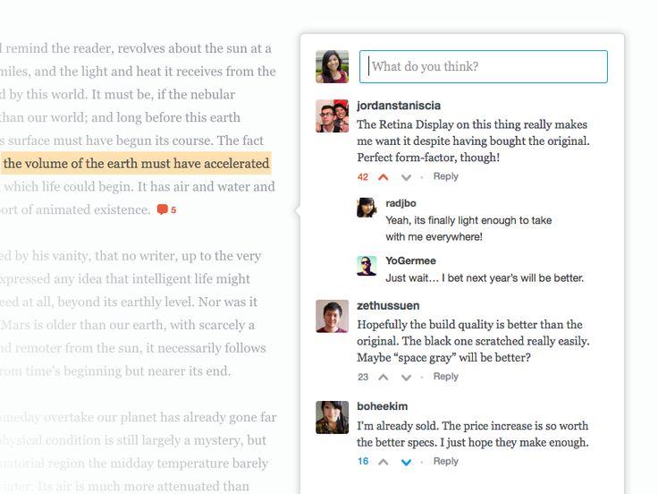 Sidenotes by Livefyre (Desktop) by Jordan Staniscia for Livefyre