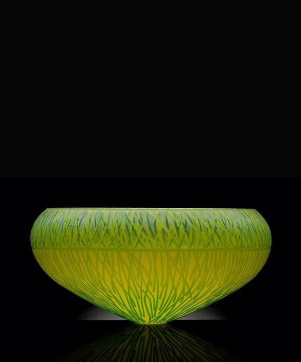 "Art Glass ""Ubiquitous Bowl ""by Gillies Jones"