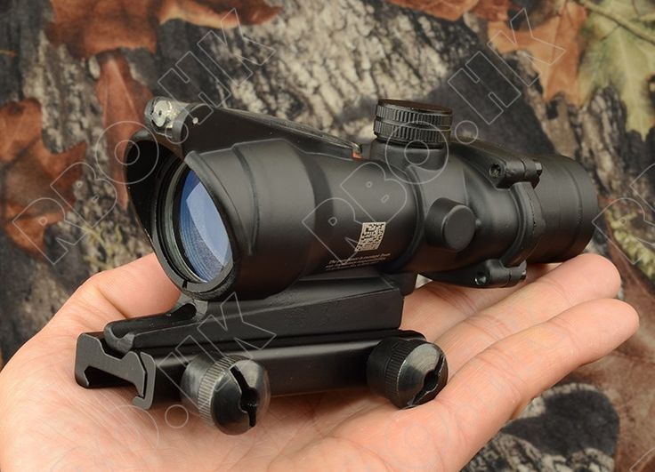 Tactical Trijicon Acog style 4x32 Rifles scope for picatinny weaver gun rail mount base hunting shooting RBO M5858
