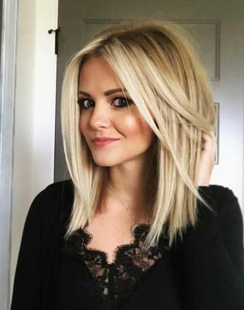 Elegante mittlere bis lange Frisuren für feines Haar 2018