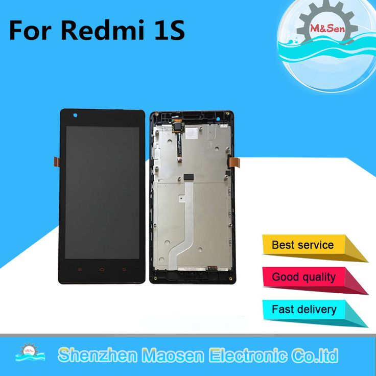 M&Sen For Xiaomi Redmi 1S Hongmi 1S 3G/4G version LCD screen display+touch panel digitizer with frame free shipping #Affiliate