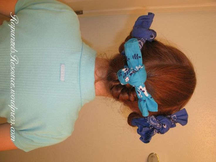 Another way to do bandana curls