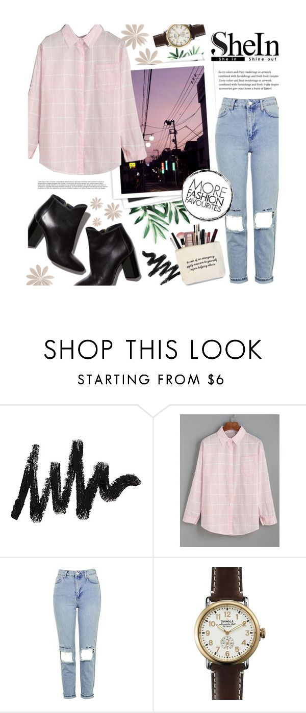 """""""Drop shoulder blouse"""" by rowcastyle ❤ liked on Polyvore featuring GALA, Topshop, Pierre Hardy and Shinola"""
