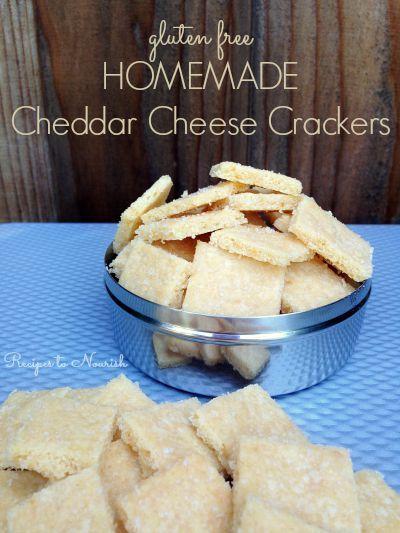 Homemade Cheddar Cheese Crackers - Gluten Free   Recipe   Gluten Free ...