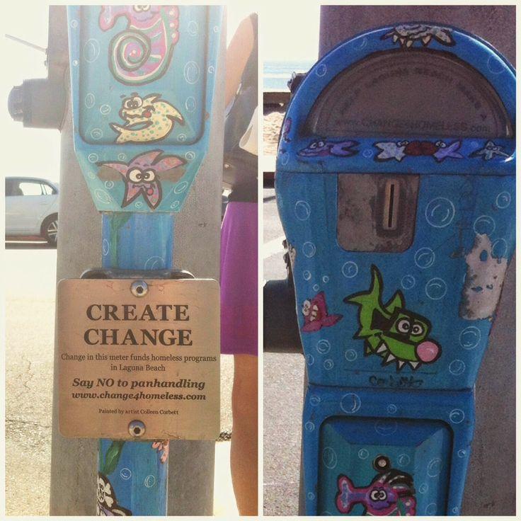 Create CHANGE w/ parking meters // thedailyhopeful.com