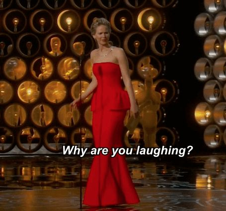 When she walked on stage and called out whoever was laughing in the front row. | Jennifer Lawrence's 19 Best Moments At The Oscars
