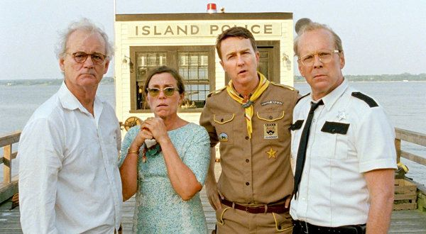 """Wes Anderson has directed his seventh feature, """"Moonrise Kingdom,"""" starring, from left, Bill Murray, Frances McDormand, Edward Norton and Bruce Willis."""