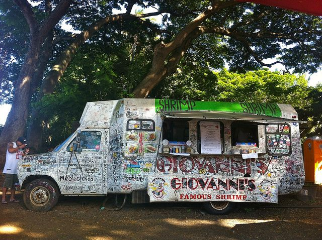 Giovanni's Famous Shrimp Truck, North Shore, Oahu. TRUST ME....If you like shrimp, stop and get some!!!