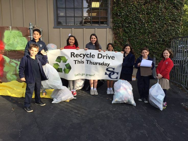 We're all Sierra Blue, but we're also keeping the earth green! — at Sierra Canyon School. #sierracanyon