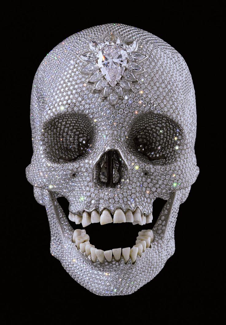 Damien Hirsch $50000000 Diamond Skull - http://www.crispculture.com: Artists, Crystals Skull, Diamonds Skull, Skiing Masks, Damien Hirst, Love Of God, Tate Modern, Pink Diamonds, Damienhirst