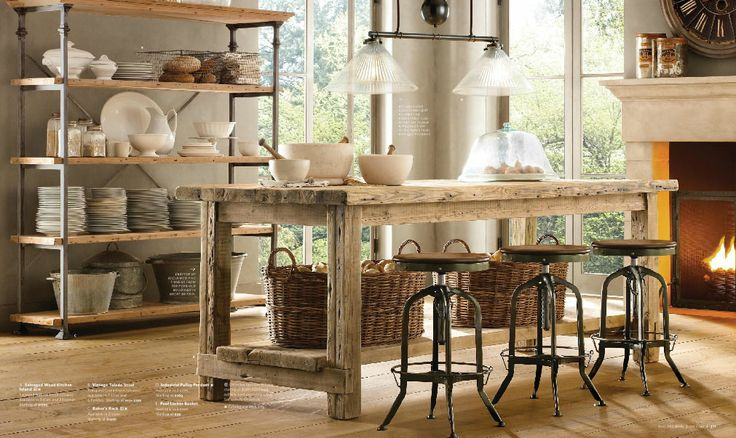 Rustic Stools For Kitchen Island
