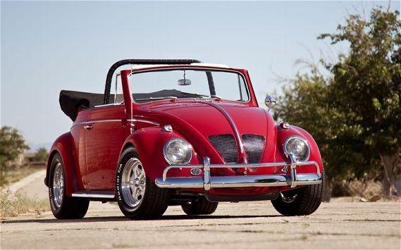 @PaulNewman's V8 powered 1963 VW Beetle convertible.