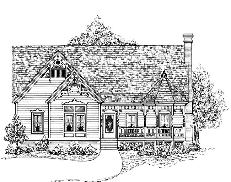 17 best images about vintage house plans on pinterest for Queen anne cottage house plans