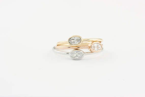 Oval CZ Silver Ring, Oval Cut Stone Ring, Solitaire Silver Ring, Ideal Gift for Her, Gold Filled Solitaire Ring, Solitaire CZ Ring, SR0413