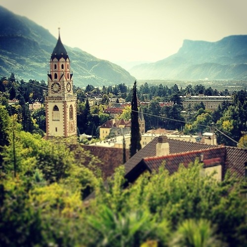 Merano. One of the best ways to explore the Dolomites and the Lago de Garda region, is by bike. Find out more about our guided cycling trips here: http://www.discoverfrance.com/italy/guided/dolomites-to-lago-di-garda-guided