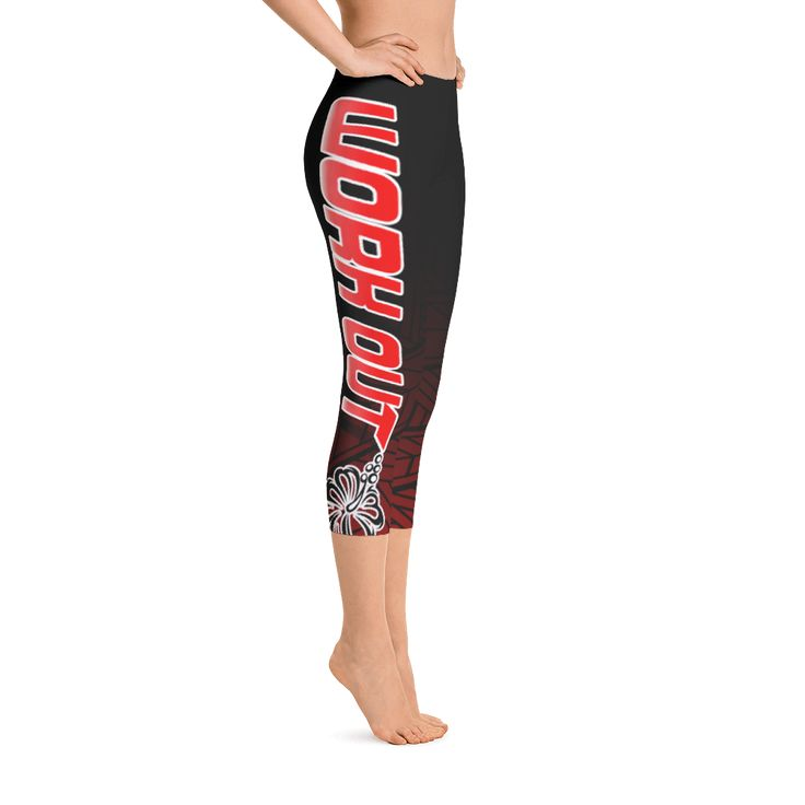 Capri Leggings - Work Out Red