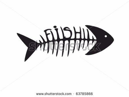 fish skeleton tattoo - Google Search