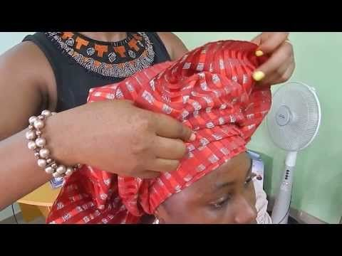 How To Tie Bridal Head Gear with [ASO OKE] 2014 - YouTube