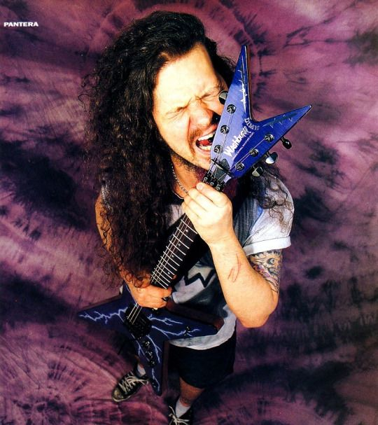 "Dimebag Darrell - ""... For the love of brother I will sing this fucking song Aesthetics of hate, I hope you burn in hell..."""