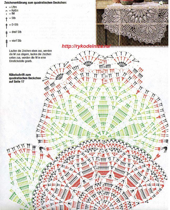 Как читать схемы и понять описание узоров.  Даже одной... овальные салфетки крючком схемы, и вязание крючком лилии...