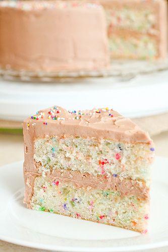 Homemade, from scratch Funfetti Cake...a must!