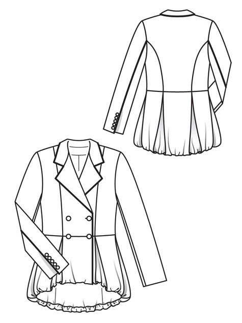 Line Drawing Jacket : Best images about disegno tecnico giacche on pinterest