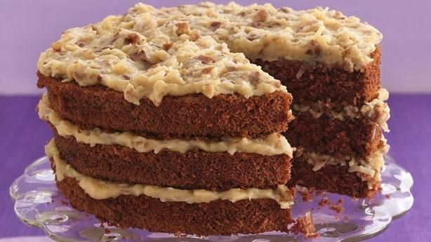 German Chocolate Cake with Coconut-Pecan Frosting | Recipe