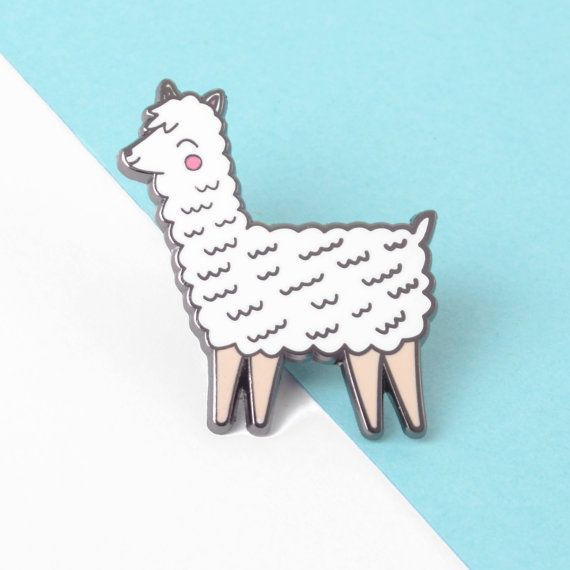 Cute Llama Enamel Pin Lapel Pin Hard Enamel Pin Badge by minifelts