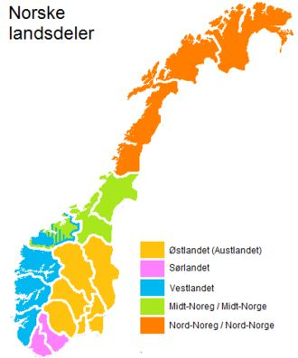 Regions of Norway