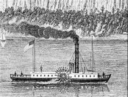 The steamboat, invented by Robert Fulton, made its maiden voyage in 1807, from Albany to New York City. Shipping goods by water was now even faster, and less expensive, than by road and horse-drawn wagon. The steam engine and the new technology of the Industrial Revolution radically transformed America.