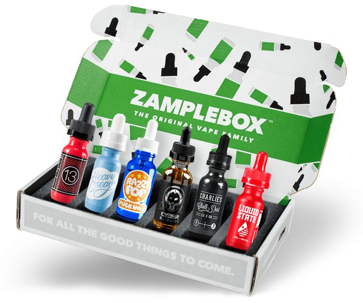 ZampleBox is the original and best e-liquid subscription for vapers. Save 70% every month on the world's best e-juice and best vape liquid.